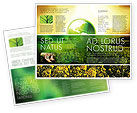 Nature & Environment: Plantilla de folleto - agricultura moderna #04097