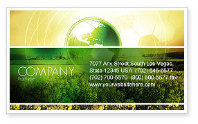 Modern Agriculture Business Card Template, 04097, Nature & Environment — PoweredTemplate.com