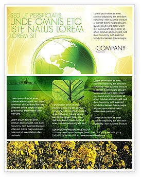 Modern Agriculture Flyer Template, 04097, Nature & Environment — PoweredTemplate.com