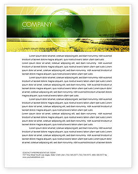 Nature & Environment: Modern Agriculture Letterhead Template #04097