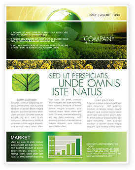 Modern Agriculture Newsletter Template, 04097, Nature & Environment — PoweredTemplate.com
