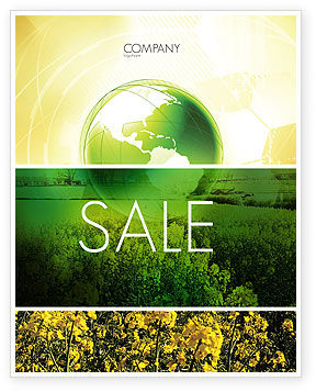 Nature & Environment: Modern Agriculture Sale Poster Template #04097