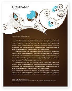 Abstract/Textures: Floral Motif Letterhead Template #04100