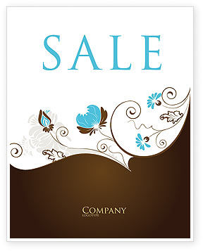 Floral Motif Sale Poster Template, 04100, Abstract/Textures — PoweredTemplate.com