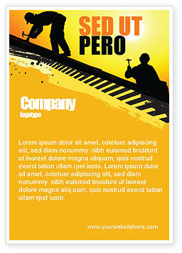 Careers/Industry: Roof Workers Ad Template #04101
