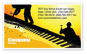 Careers/Industry: Roof Workers Business Card Template #04101