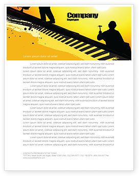 Careers/Industry: Roof Workers Letterhead Template #04101