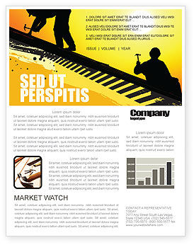 Roof Workers Newsletter Template, 04101, Careers/Industry — PoweredTemplate.com