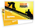 Careers/Industry: Roof Workers Postcard Template #04101