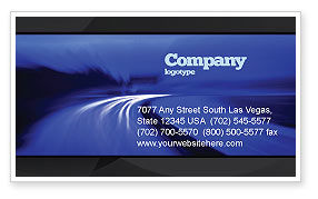 Blue Twilight Movement Business Card Template, 04102, Consulting — PoweredTemplate.com