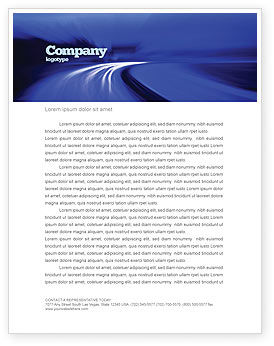 Blue Twilight Movement Letterhead Template