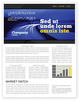Blue Twilight Movement Newsletter Template, 04102, Consulting — PoweredTemplate.com