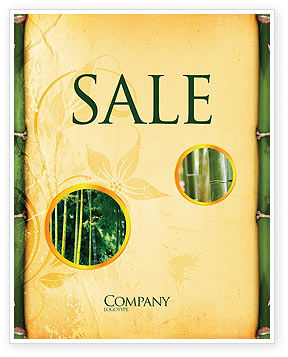 Bamboo Theme Sale Poster Template, 04107, Abstract/Textures — PoweredTemplate.com