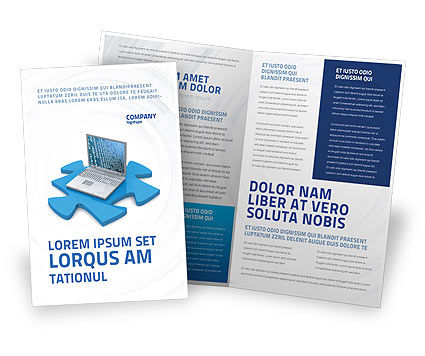 Technology, Science & Computers: Laptop Data Brochure Template #04108