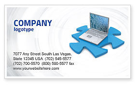 Technology, Science & Computers: Laptop Data Business Card Template #04108