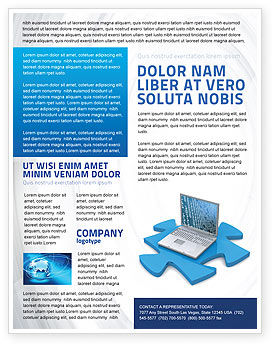 Technology, Science & Computers: Laptop Data Flyer Template #04108
