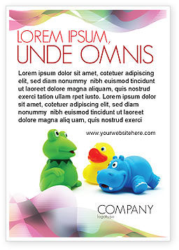 Education & Training: Stuffed Toys Ad Template #04109