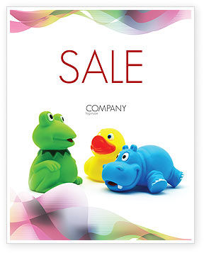 Stuffed Toys Sale Poster Template