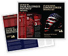 America: Voice Of America Brochure Template #04120
