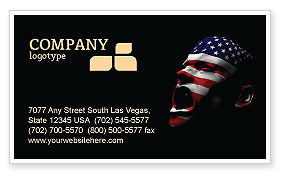 America: Voice of America Business Card Template #04120