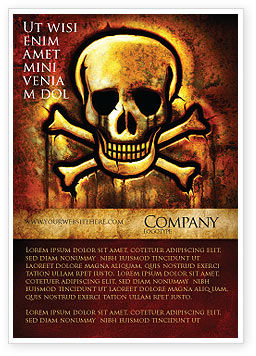 Military: Pirate Sign Advertentie Template #04124
