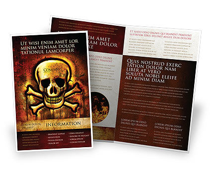 Pirate Sign Brochure Template, 04124, Military — PoweredTemplate.com