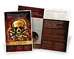 Military: Pirate Sign Brochure Template #04124