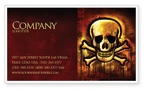 Military: Pirate Sign Business Card Template #04124