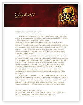 Pirate Sign Letterhead Template, 04124, Military — PoweredTemplate.com