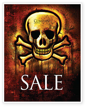 Pirate Sign Sale Poster Template, 04124, Military — PoweredTemplate.com