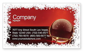 Holiday/Special Occasion: Fortune-telling Business Card Template #04128