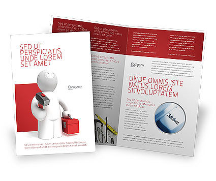 Technical Support Brochure Template, 04135, Utilities/Industrial — PoweredTemplate.com