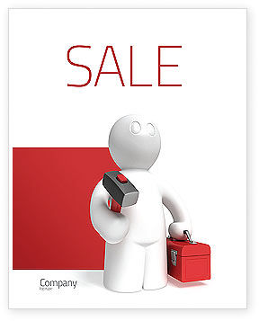 Technical Support Sale Poster Template, 04135, Utilities/Industrial — PoweredTemplate.com