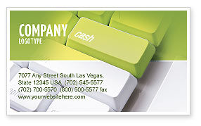 Cash Button Business Card Template, 04137, Financial/Accounting — PoweredTemplate.com