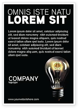 Business Concepts: Elektrisch Licht Advertentie Template #04138