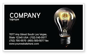Electric Light Business Card Template, 04138, Business Concepts — PoweredTemplate.com