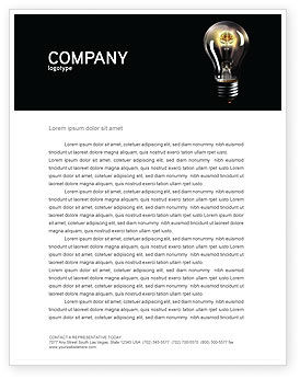 Business Concepts: Electric Light Letterhead Template #04138