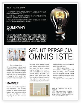 Business Concepts: Electric Light Newsletter Template #04138