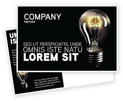 Business Concepts: Electric Light Postcard Template #04138