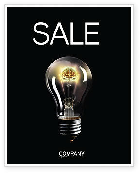 Electric Light Sale Poster Template, 04138, Business Concepts — PoweredTemplate.com
