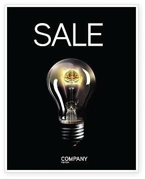 Business Concepts: Plantilla de póster - luz eléctrica #04138