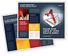 Financial/Accounting: Diagram In Isometric View Brochure Template #04139
