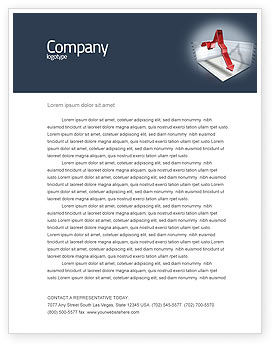 Financial/Accounting: Diagram In Isometric View Letterhead Template #04139