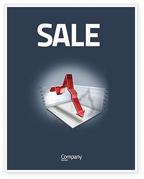 Financial/Accounting: Diagram In Isometric View Sale Poster Template #04139