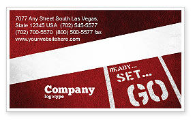 Ready To Go Business Card Template, 04140, Consulting — PoweredTemplate.com