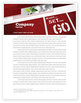 Consulting: Ready To Go Letterhead Template #04140