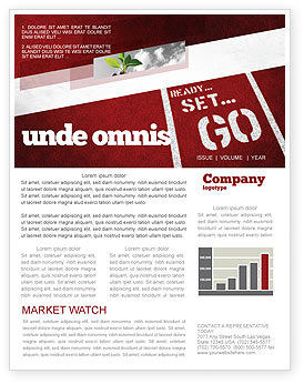 Ready To Go Newsletter Template, 04140, Consulting — PoweredTemplate.com
