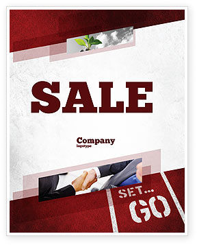 Ready To Go Sale Poster Template, 04140, Consulting — PoweredTemplate.com