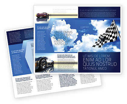 Homestretch Brochure Template, 04142, Flags/International — PoweredTemplate.com