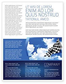 Homestretch Flyer Template, 04142, Flags/International — PoweredTemplate.com
